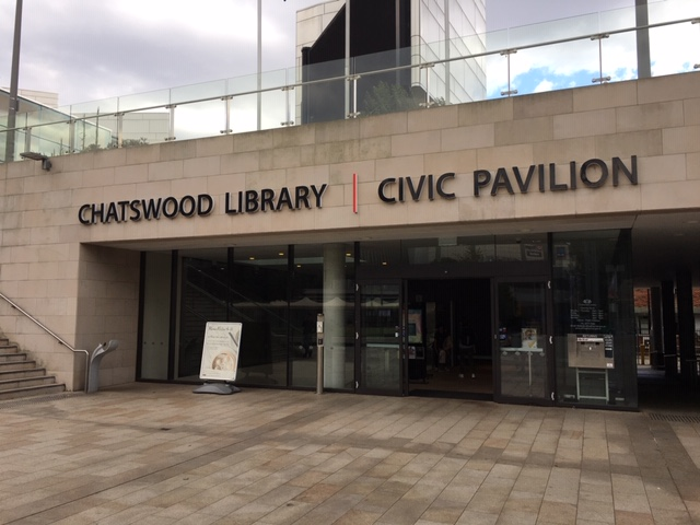 The entrance to Chatswood Library
